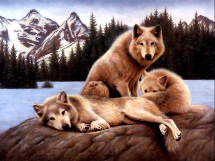 il capobranco e i suoi cuccioli